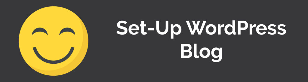 Set-Up WordPress blog