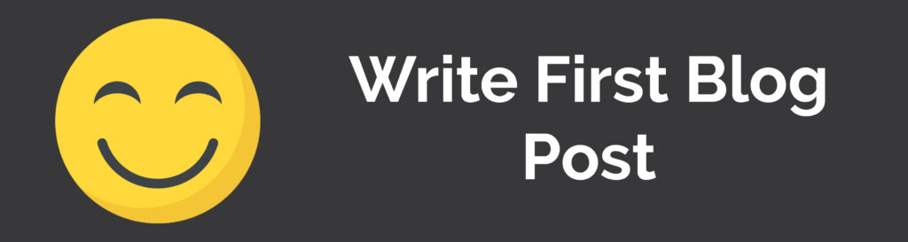 Write First Blog post